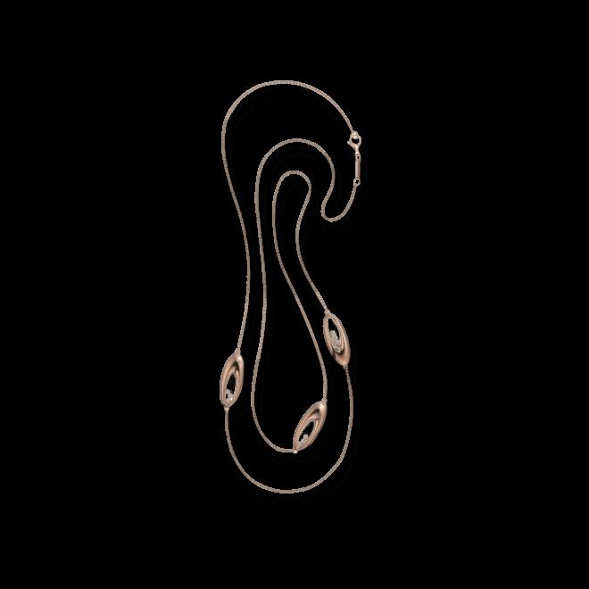 Halskette Chopard Icons Oval aus 750 Roségold mit 9 Brillanten (0,27 Karat)