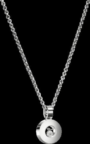 Halskette mit Anhänger Chopard Icons Round aus 750 Weißgold mit 1 Brillant (0,05 Karat)
