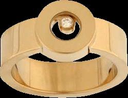 Ring Chopard Icons Round aus 750 Gelbgold mit 1 Brillant (0,05 Karat)