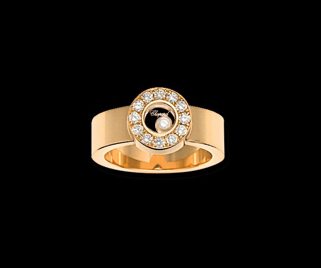 Ring Chopard Icons Round aus 750 Gelbgold mit 13 Brillanten (0,29 Karat)