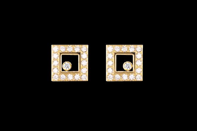 Ohrstecker Chopard Icons Square aus 750 Gelbgold mit mehreren Brillanten (2 x 0,385 Karat)