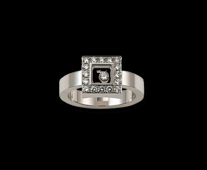 Ring Chopard Icons Square aus 750 Weißgold mit mehreren Brillanten (0,38 Karat)