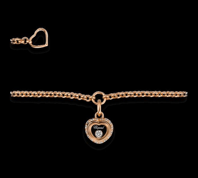 Armband mit Anhänger Chopard Miss Happy aus 750 Roségold mit 1 Brillant (0,14 Karat) Größe 21 cm