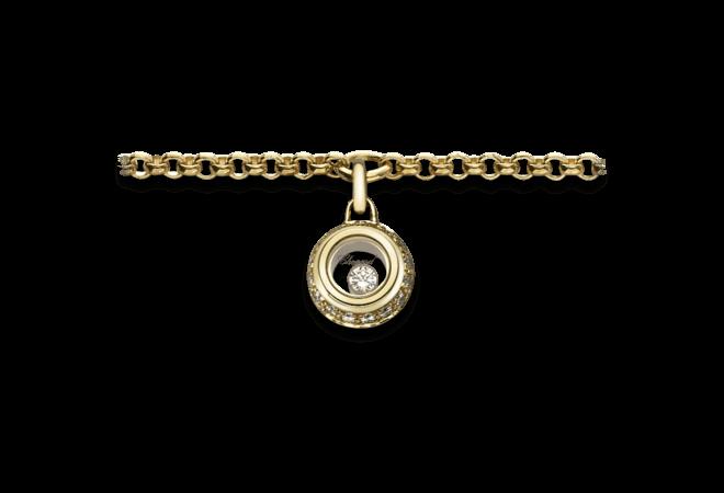 Armband mit Anhänger Chopard Miss Happy aus 750 Gelbgold mit mehreren Brillanten (0,14 Karat)