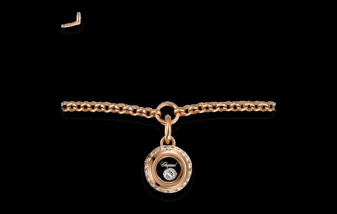 Armband mit Anhänger Chopard Miss Happy aus 750 Roségold mit 1 Brillant (0,14 Karat)
