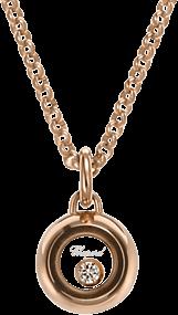 Halskette mit Anhänger Chopard Miss Happy aus 750 Weißgold mit 1 Brillant (0,03 Karat)
