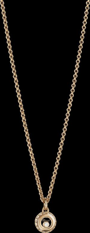 Halskette mit Anhänger Chopard Miss Happy aus 750 Roségold mit mehreren Brillanten (0,14 Karat)