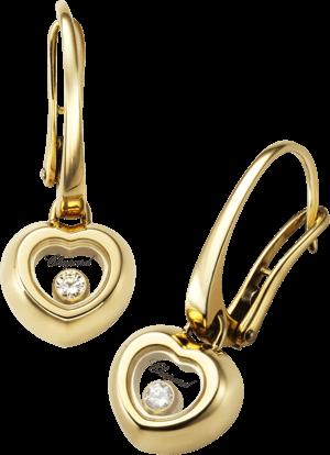 Ohrring Chopard Miss Happy aus 750 Gelbgold mit 2 Diamanten (2 x 0,03 Karat)