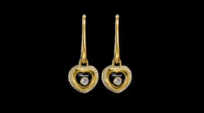 Ohrring Chopard Miss Happy aus 750 Gelbgold mit mehreren Brillanten (2 x 0,145 Karat)
