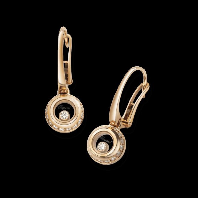 Ohrring Chopard Miss Happy aus 750 Roségold mit mehreren Diamanten (2 x 0,14 Karat)