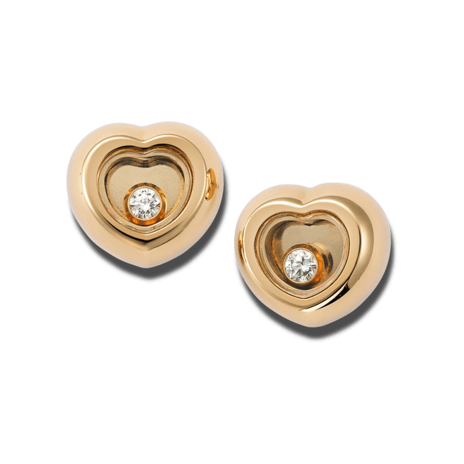 Ohrstecker Chopard Miss Happy aus 750 Roségold mit 2 Diamanten (2 x 0,03 Karat)