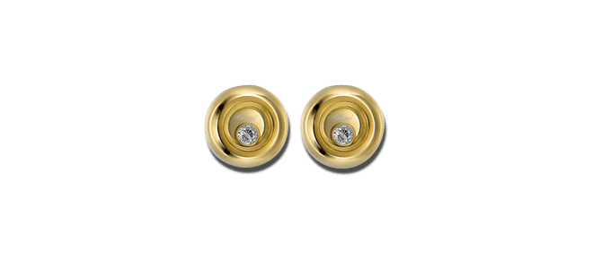 Ohrstecker Chopard Miss Happy aus 750 Gelbgold mit 2 Brillanten (2 x 0,03 Karat)