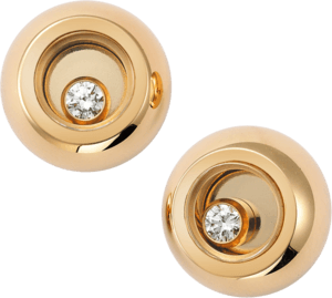Ohrstecker Chopard Miss Happy aus 750 Roségold mit 2 Diamanten (2 x 0,03 Karat)