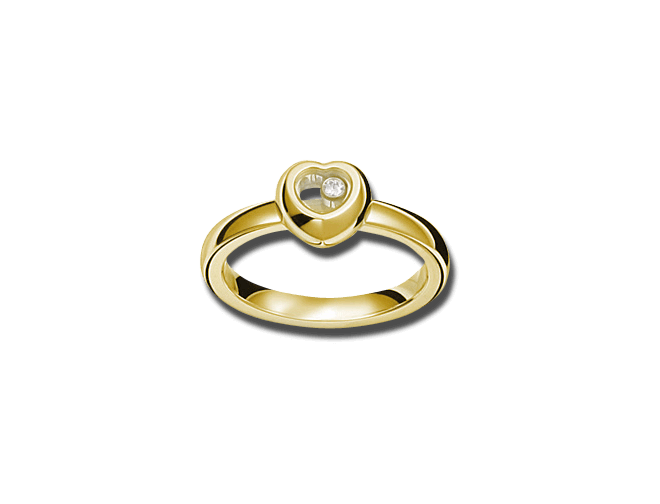 Ring Chopard Miss Happy aus 750 Gelbgold mit 1 Brillant (0,03 Karat)