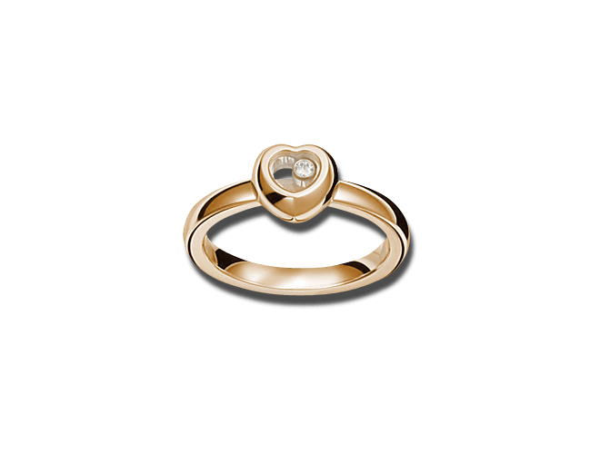 Ring Chopard Miss Happy aus 750 Roségold mit 1 Brillant (0,03 Karat)