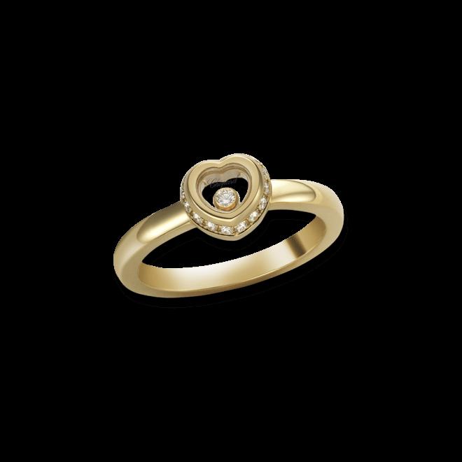 Ring Chopard Miss Happy aus 750 Gelbgold mit mehreren Diamanten (0,14 Karat)