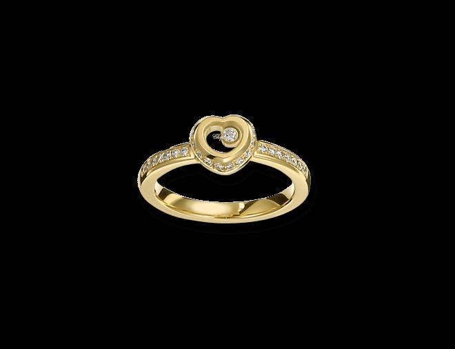 Ring Chopard Miss Happy aus 750 Gelbgold mit mehreren Brillanten (0,24 Karat)