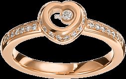 Ring Chopard Miss Happy aus 750 Roségold mit mehreren Brillanten (0,24 Karat)
