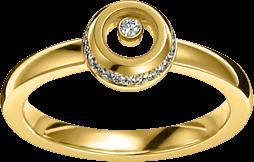 Ring Chopard Miss Happy aus 750 Gelbgold mit mehreren Brillanten (0,14 Karat)