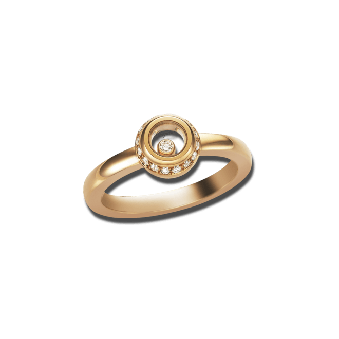 Ring Chopard Miss Happy aus 750 Roségold mit mehreren Diamanten (0,14 Karat)