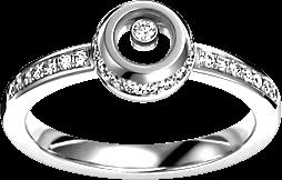Ring Chopard Miss Happy aus 750 Weißgold mit mehreren Brillanten (0,24 Karat)