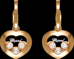 Ohrring Chopard Happy Diamonds aus 750 Roségold mit 6 Diamanten (2 x 0,08 Karat)