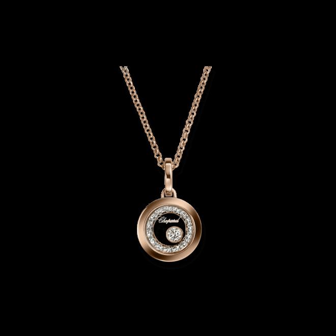 Halskette mit Anhänger Chopard Very Chopard aus 750 Roségold mit mehreren Brillanten (0,32 Karat)