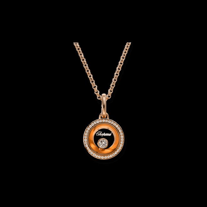 Halskette mit Anhänger Chopard Very Chopard aus 750 Roségold mit mehreren Brillanten (0,16 Karat)
