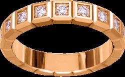 Ring Chopard Pure Medium aus 750 Roségold mit 11 Diamanten (0,38 Karat)