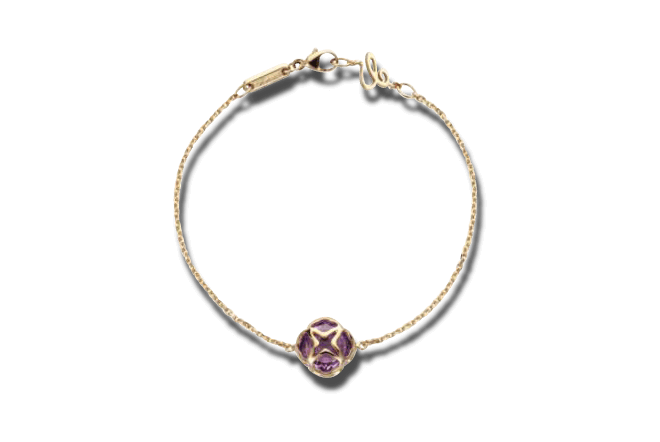 Armband mit Anhänger Chopard Cocktail Jewellery aus 750 Roségold mit 1 Amethyst