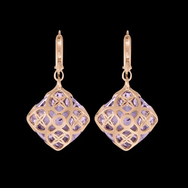 Ohrhänger Chopard Cocktail Jewellery aus 750 Roségold mit 40 Diamanten (2 x 0,06 Karat) und 2 Amethysten