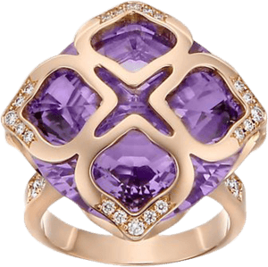 Ring Chopard Cocktail Jewellery aus 750 Roségold mit 38 Diamanten (0,37 Karat) und 1 Amethyst