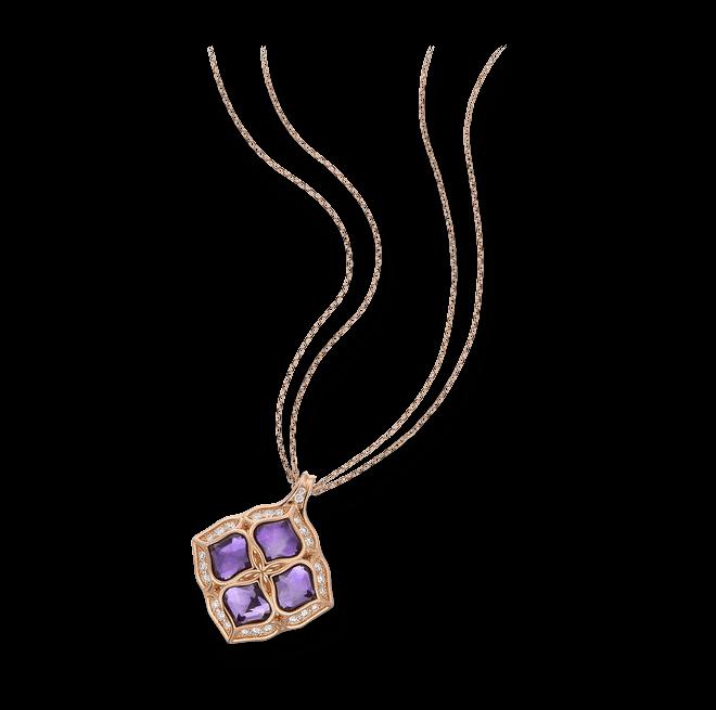 Halskette mit Anhänger Chopard Imperiale aus 750 Roségold mit 1 Amethyst und mehreren Brillanten (0,48 Karat)