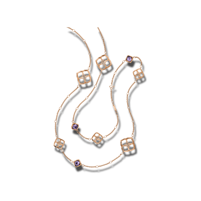 Halskette Chopard Imperiale aus 750 Roségold mit 10 Amethysten