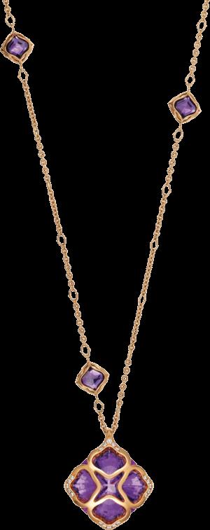 Halskette mit Anhänger Chopard Imperiale aus 750 Roségold mit 20 Brillanten (0,36 Karat) und mehreren Edelsteinen