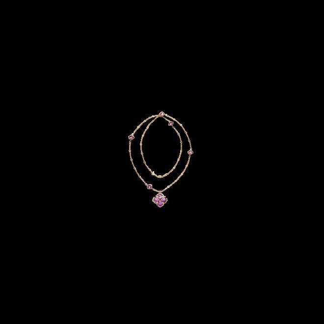 Halskette mit Anhänger Chopard Imperiale aus 750 Roségold mit 1 Amethyst, 10 Amethysten und 20 Brillanten (0,36 Karat)