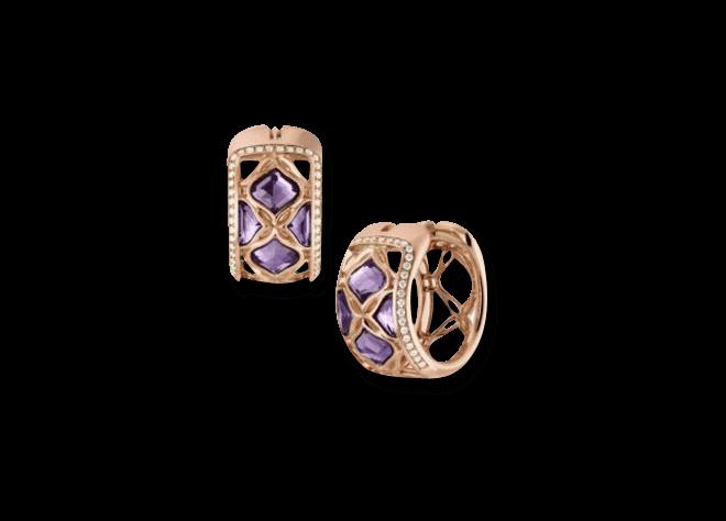 Creole Chopard Lace Jewellery aus 750 Roségold mit 8 Amethysten und 66 Diamanten (2 x 0,225 Karat)