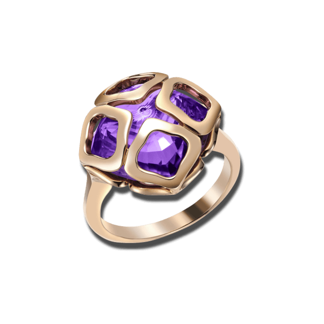 Ring Chopard Imperiale aus 750 Roségold mit Amethyst