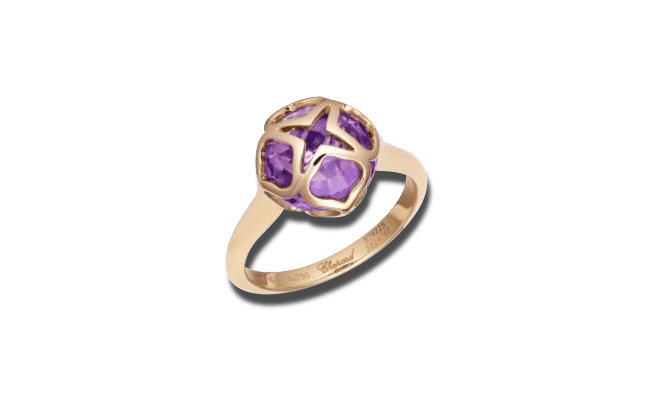 Ring Chopard Imperiale aus 750 Roségold mit 1 Amethyst