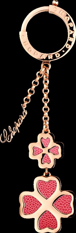 Schlüsselanhänger Chopard Imperiale aus 18 Karat rosévergoldetes Messing und Kalbsleder
