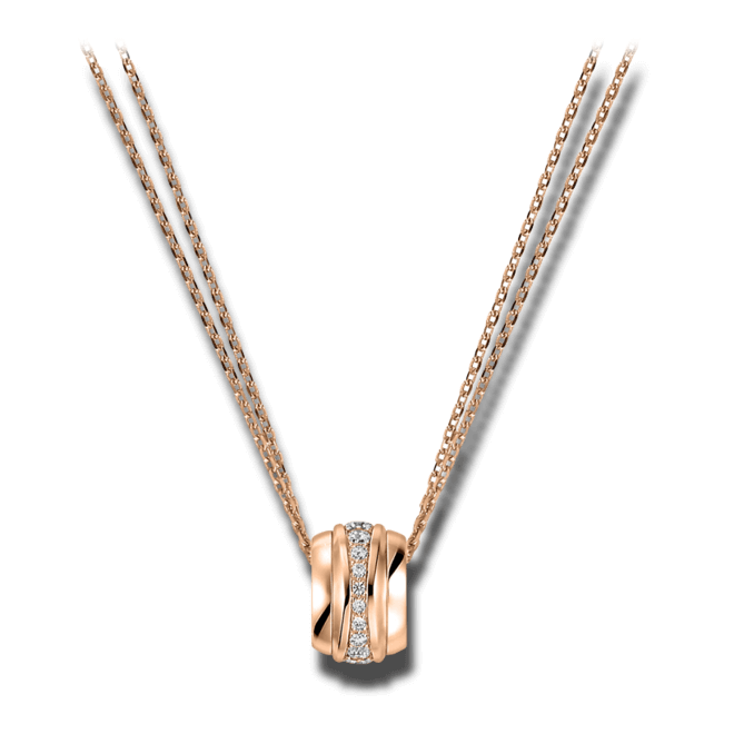 Halskette mit Anhänger Chopard La Strada aus 750 Roségold mit mehreren Brillanten (0,46 Karat)