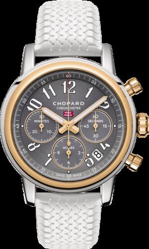 Armbanduhr Chopard Classic Racing Automatik Chronograph 39mm mit grauem Zifferblatt und Kautschukarmband