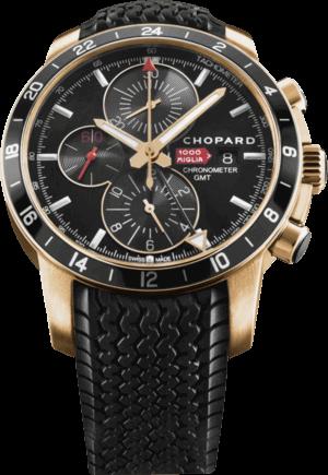 Herrenuhr Chopard Chopard Mille Miglia GMT Chrono 2012 mit schwarzem Zifferblatt und Kautschukarmband