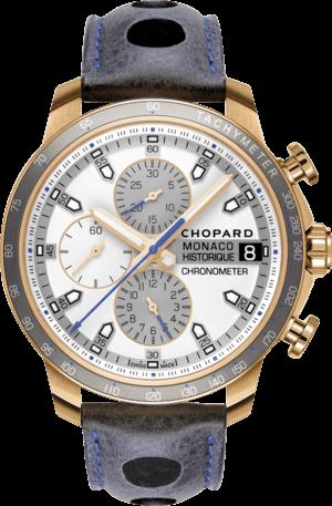 Herrenuhr Chopard G.P.M.H. 2016 Race Edition mit silberfarbenem Zifferblatt und Kalbsleder-Armband