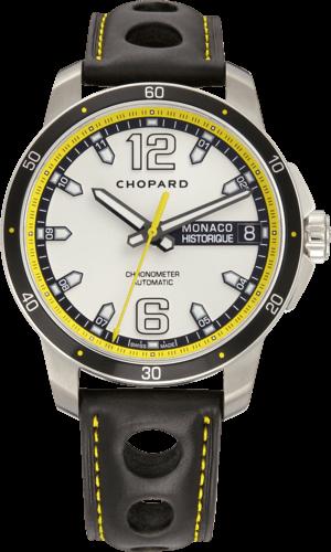 Herrenuhr Chopard G.P.M.H. Automatic mit grauem Zifferblatt und Kalbsleder-Armband