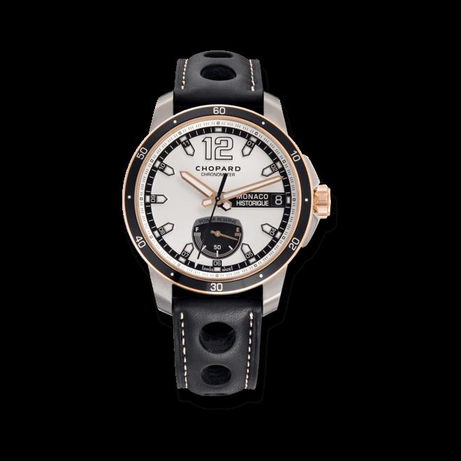 Herrenuhr Chopard G.P.M.H. Power Control mit grauem Zifferblatt und Kalbsleder-Armband