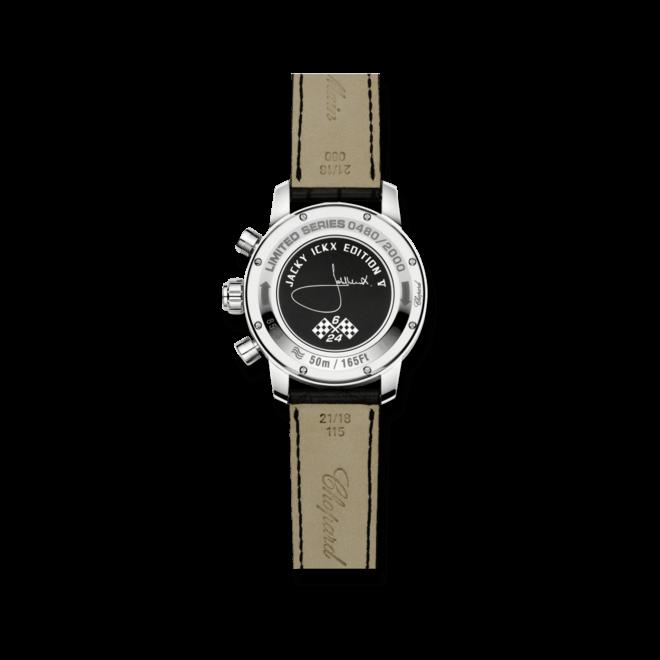 Herrenuhr Chopard Jacky Ickx Edition V mit silberfarbenem Zifferblatt und Alligatorenleder-Armband