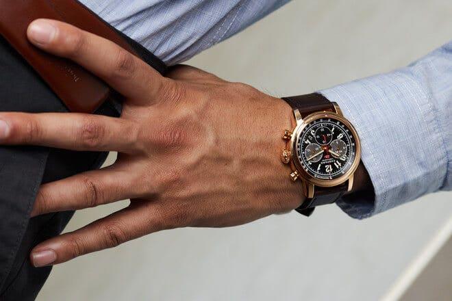 Herrenuhr Chopard Mille Miglia 2016 XL Race Edition mit schwarzem Zifferblatt und Kalbsleder-Armband