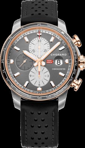 Herrenuhr Chopard Mille Miglia 2021 Race Edition mit grauem Zifferblatt und Kalbsleder-Armband