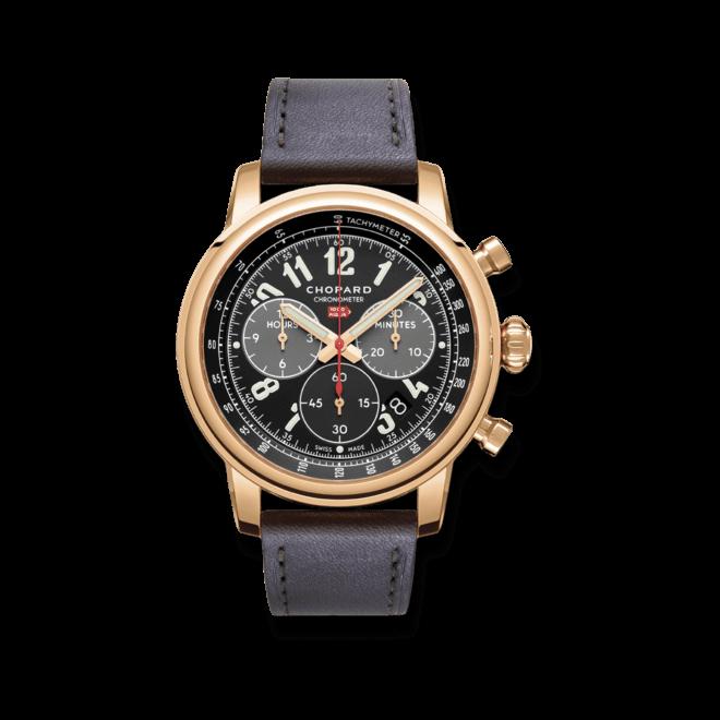 Herrenuhr Chopard Mille Miglia Classic Chronograph mit schwarzem Zifferblatt und Kalbsleder-Armband bei Brogle